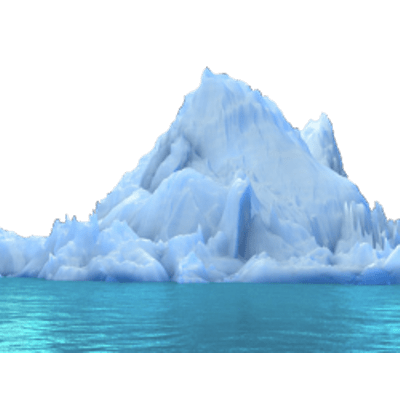 Iceberg clipart ice cap. In water transparent png