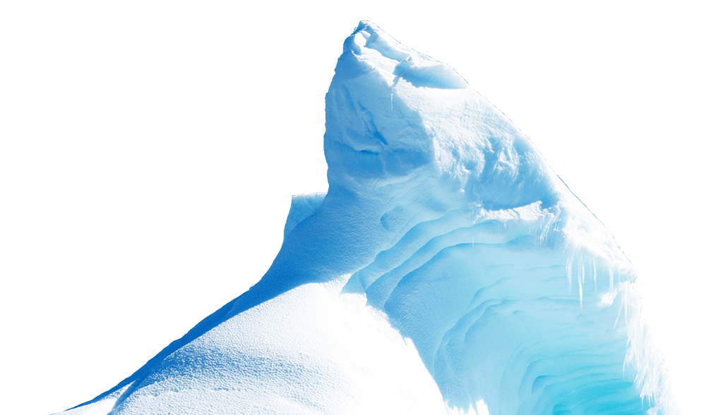 Iceberg clipart ice cap. Tip of the transparent