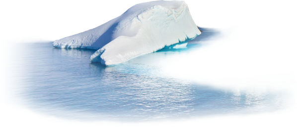 Iceberg clipart ice cap. Snow water winter ftestickers