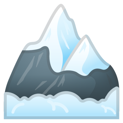 Iceberg clipart snow mountain. Google android pie