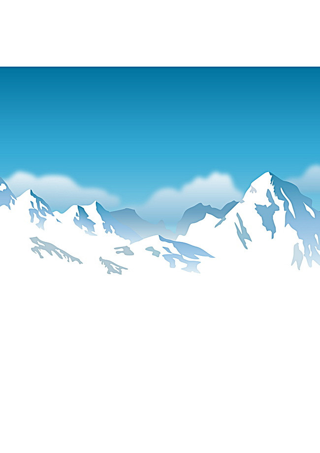 Iceberg clipart snow mountain. Snowy blue background image