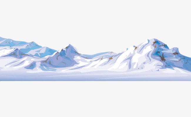 Iceberg clipart snow mountain. Hand painted blue white