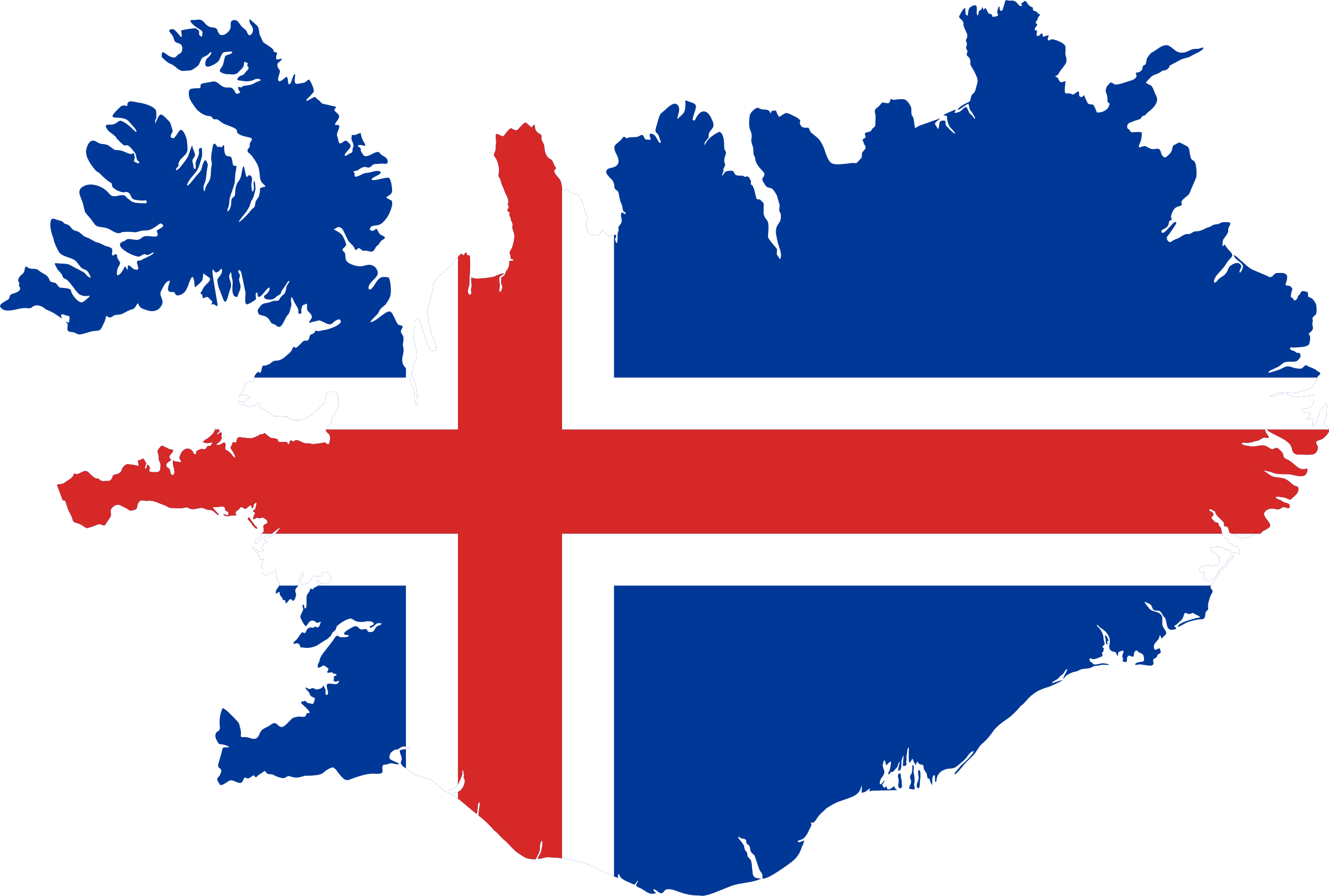 Svg flags pdf. Iceland flag map icons