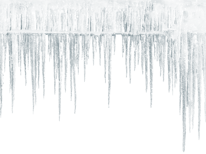 Icicle border png. Seamless free isolated objects