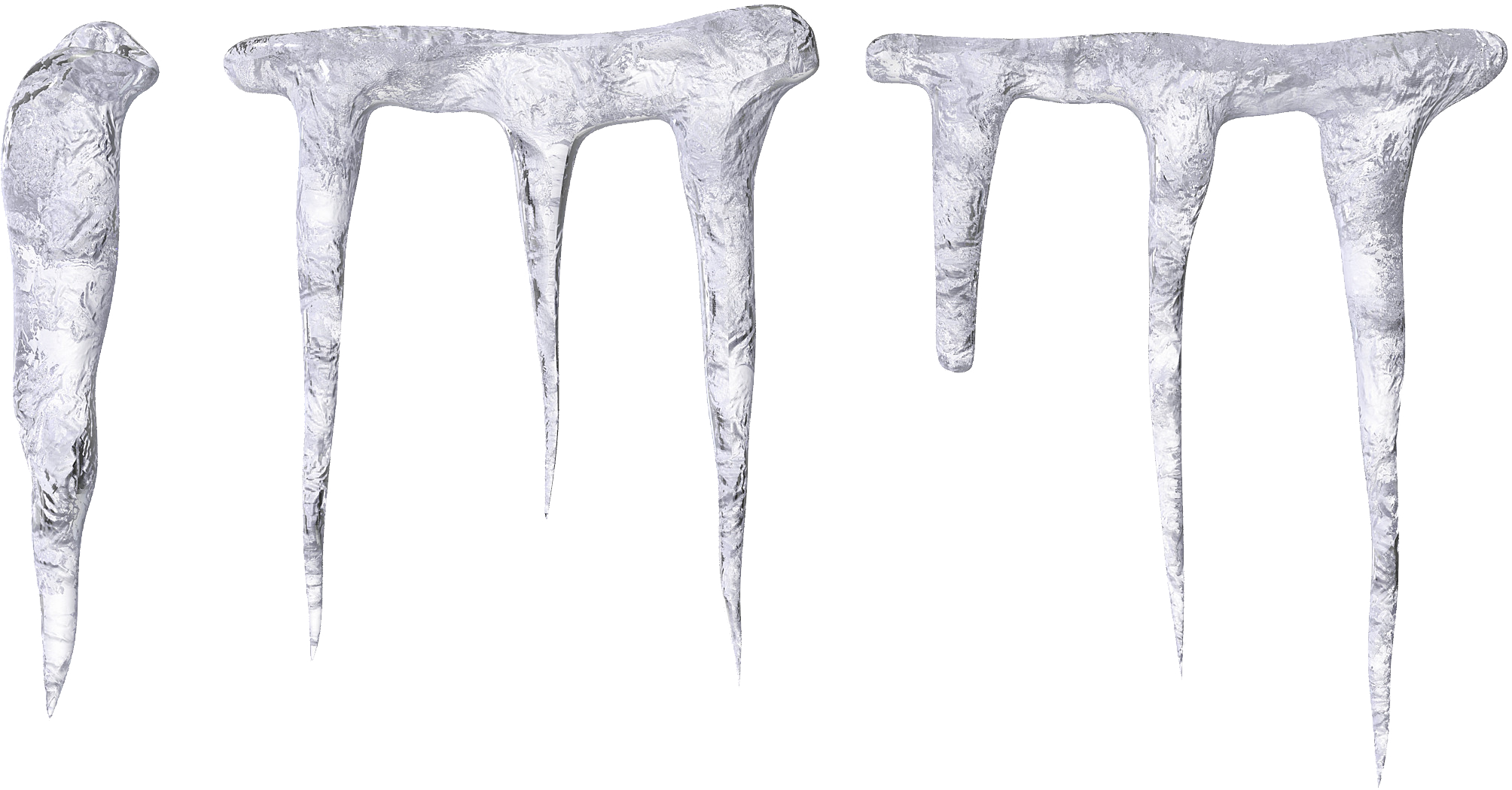 icicles transparent black