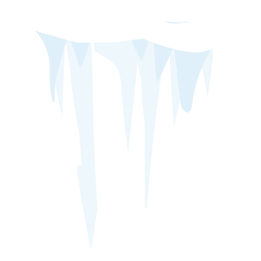 Vector icicles paper. Snow icicle icon transparent