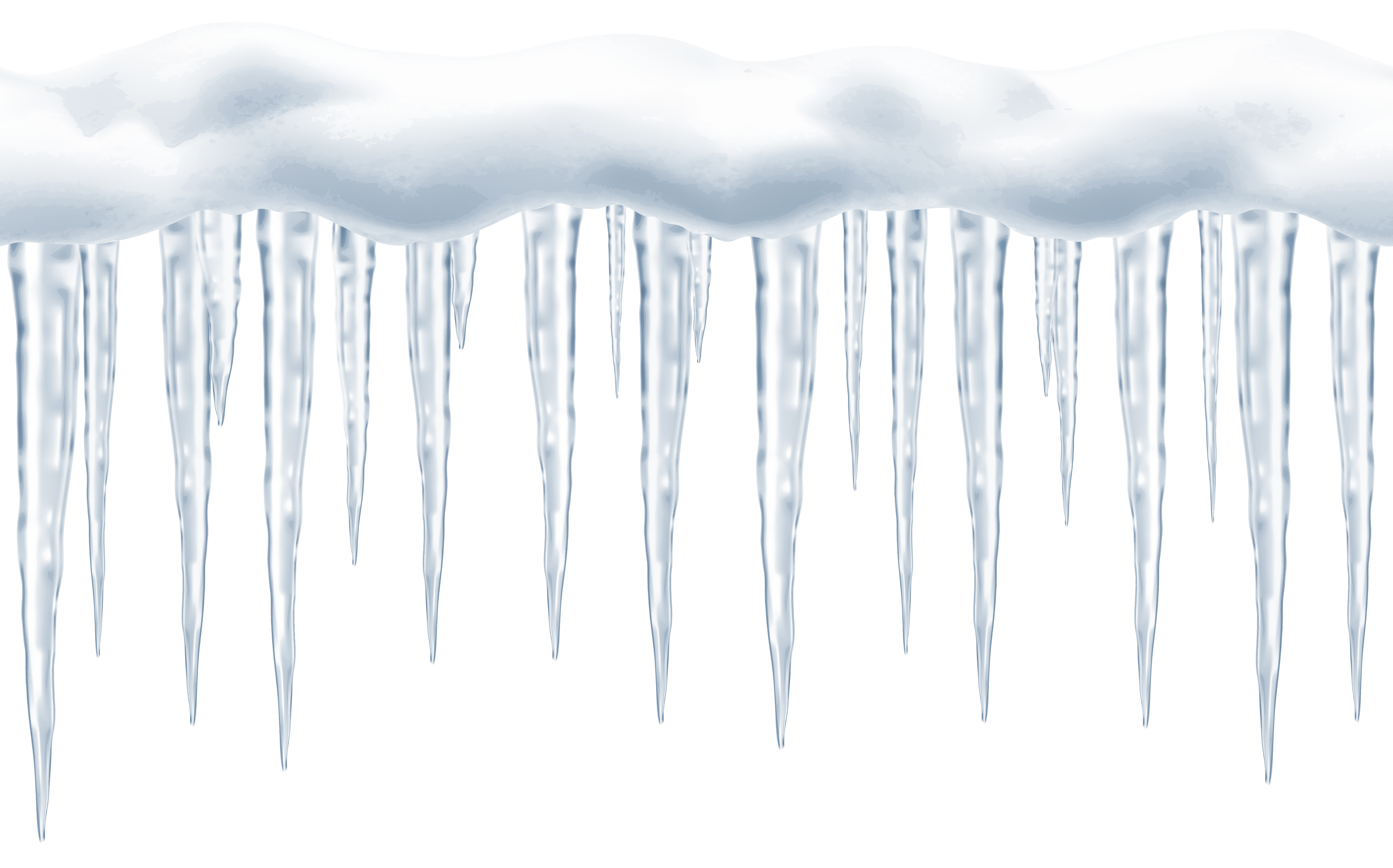 Icicle silhouette png. Large icicles transparent clip