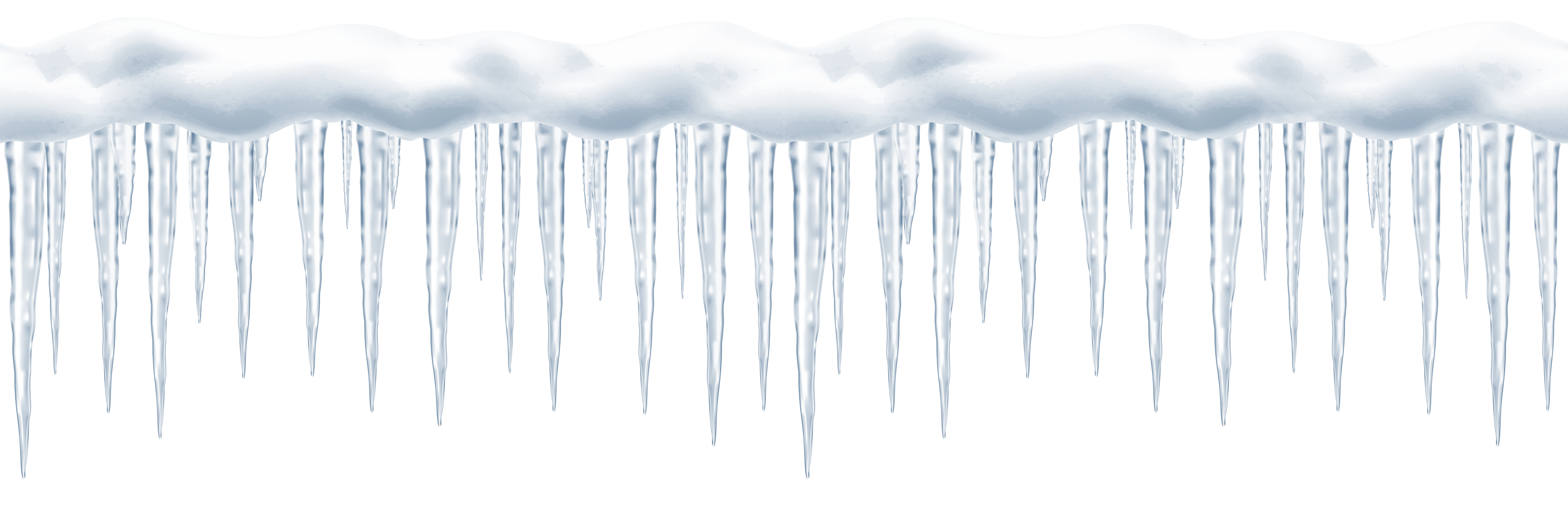 Icicles border png. Long transparent clip art