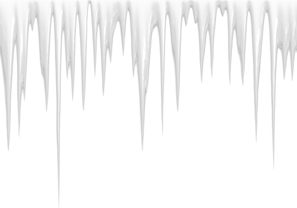 Icicles drawing transparent