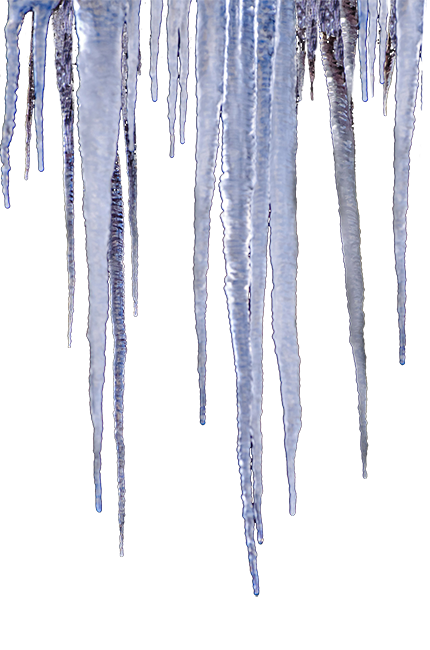 Icicles drawing sickle. Find the winter clipart