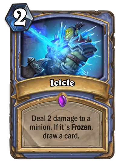 Icicles drawing drawn. Icicle hearthstone cards deck