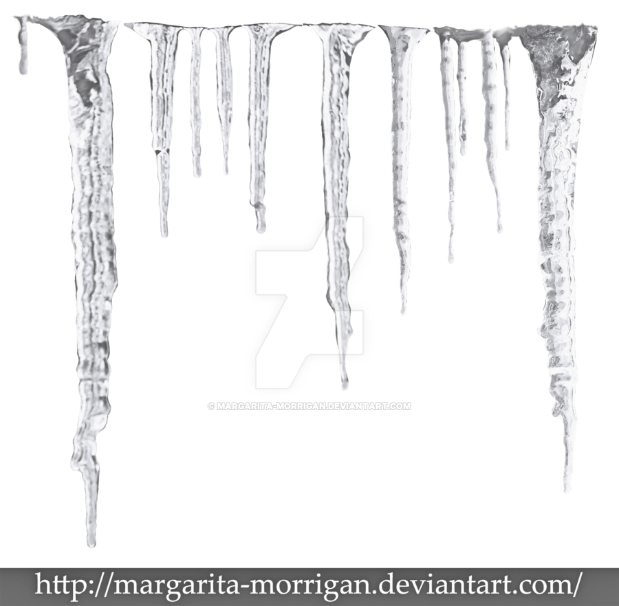 By margarita morrigan on. Icicles transparent one black and white library