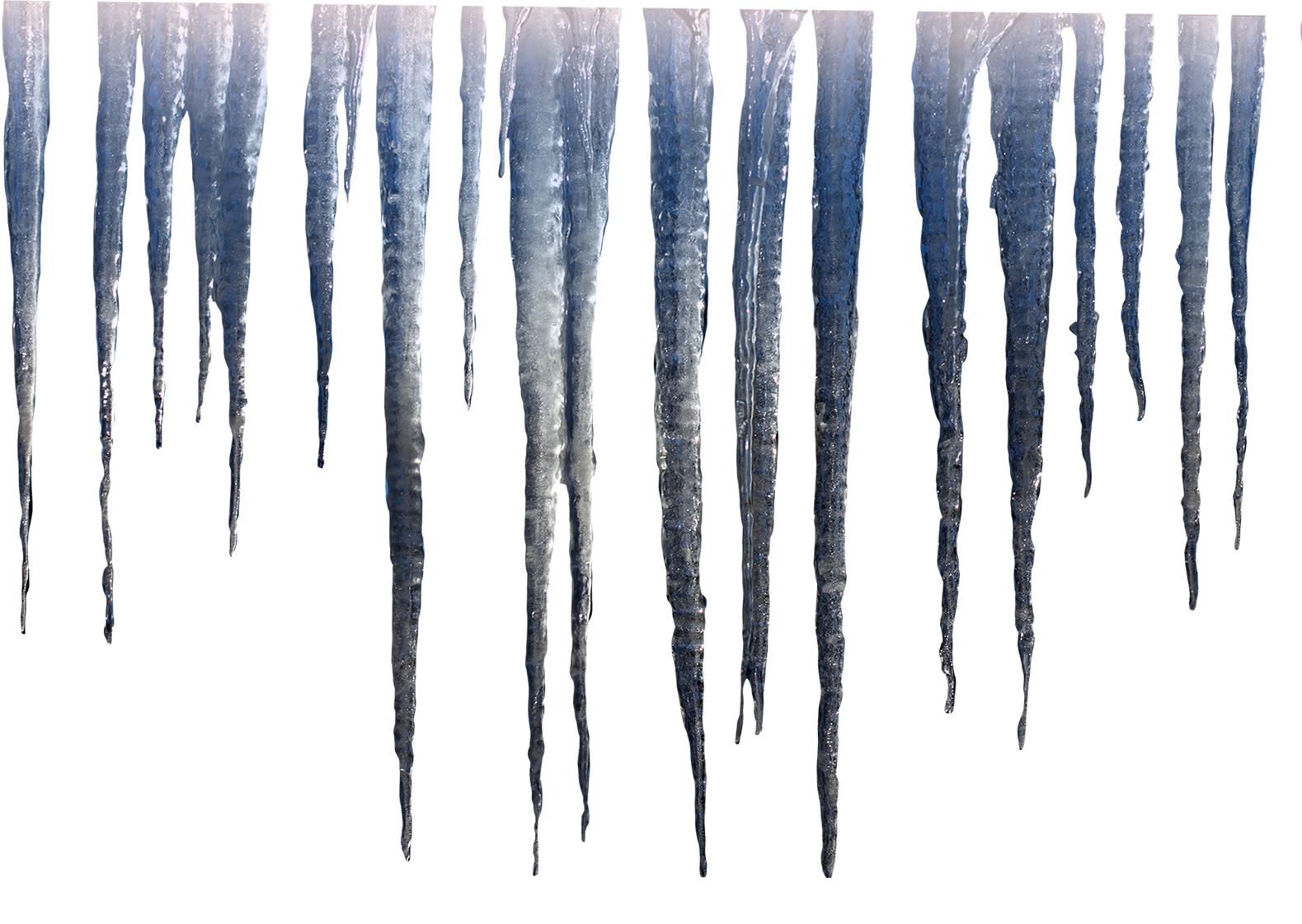 Icicles drawing realistic. Photoshop digital art create