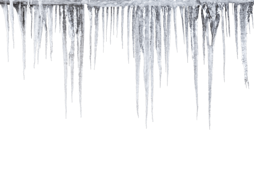 Icicles drawing melting