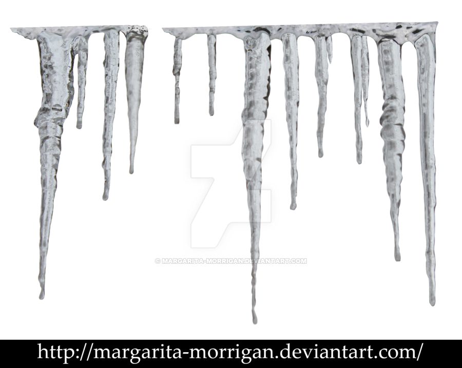 Icicles transparent clear. By margarita morrigan on