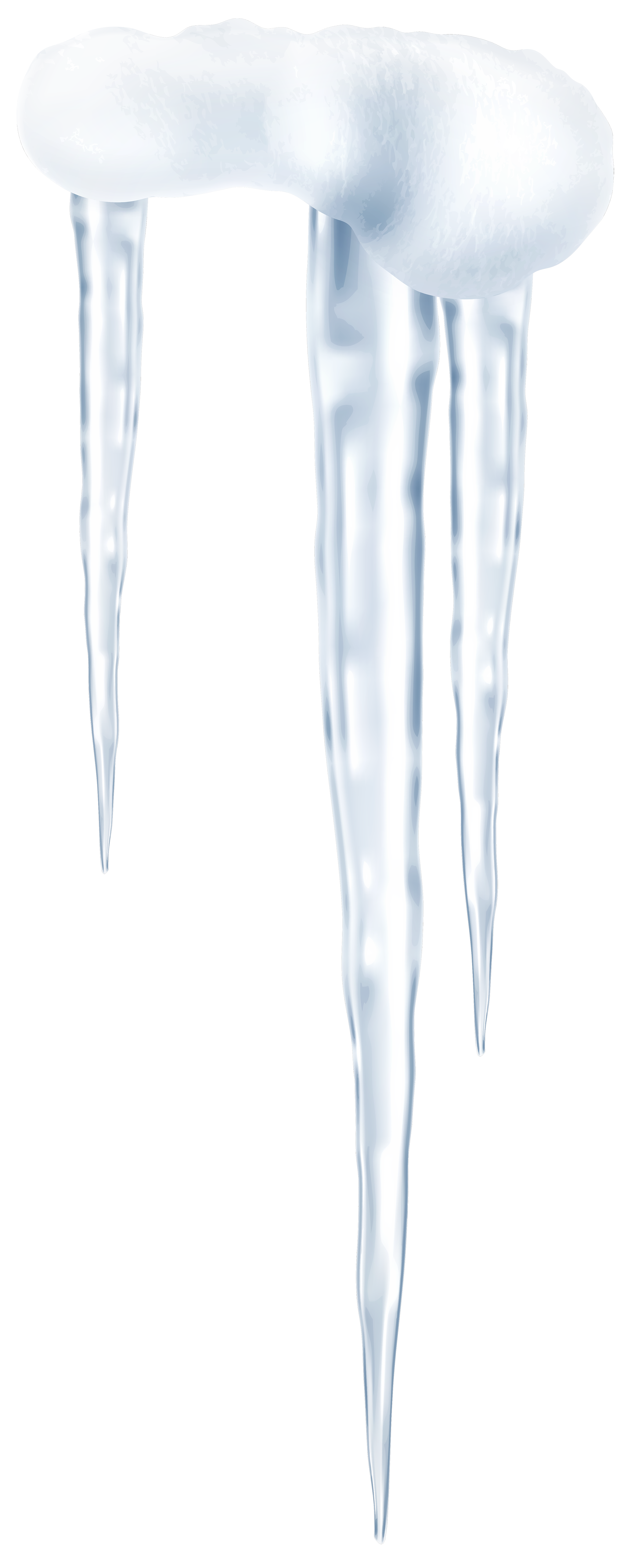 Icicles transparent small. Png clip art image