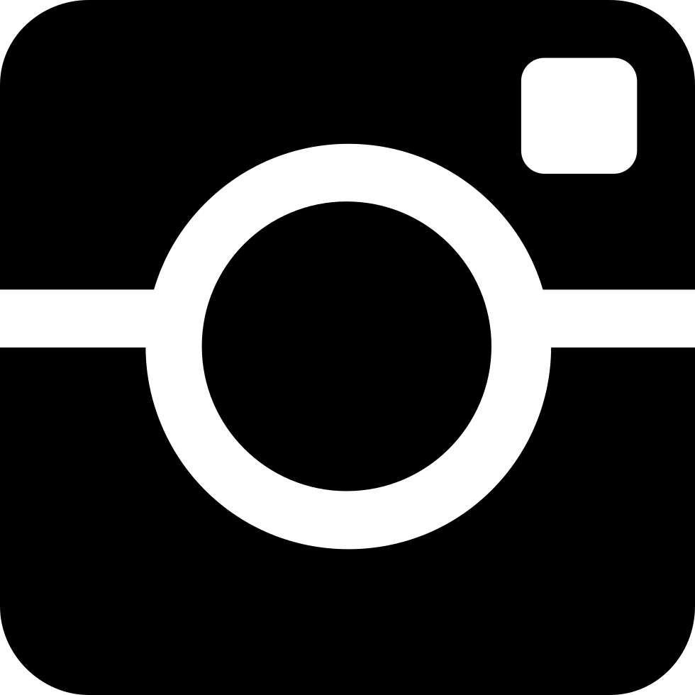 Instagram png white. Social svg icon free