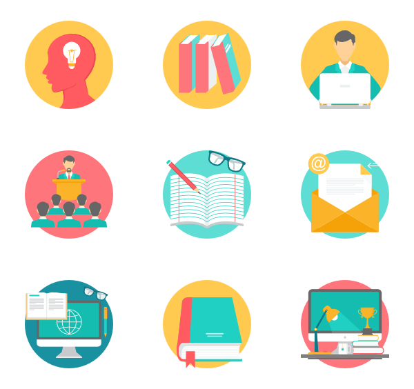 icon packs for. Educational vector picture freeuse stock