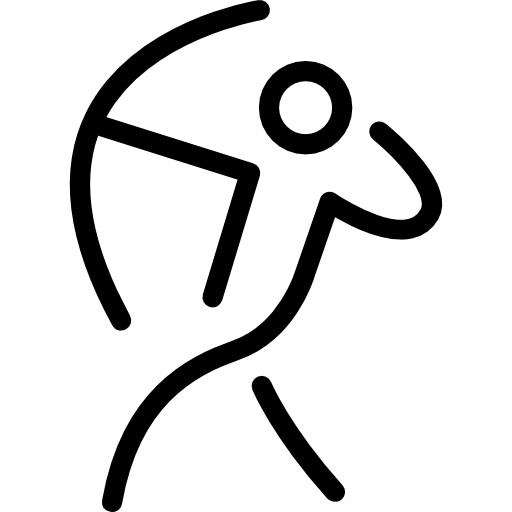 Icon stick figure png. Archer man with an