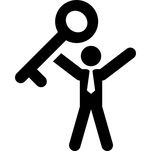Keys to success png. Key free people icons