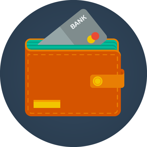 Icon wallet png. Bank free of modern