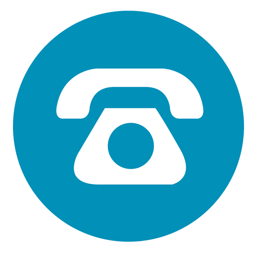 Icone telephone png. Round icon transparent svg