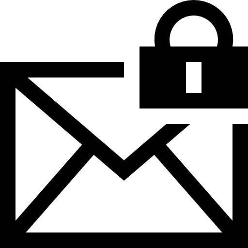 Icono mail vector png. Encryption interface symbol of