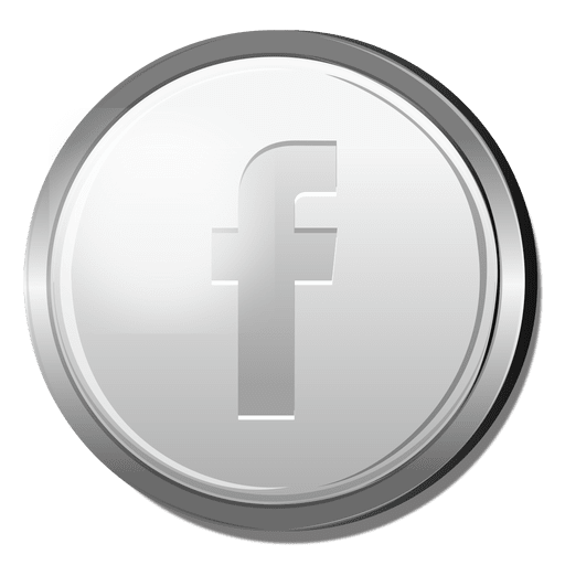 Icons facebook png. D silver icon transparent