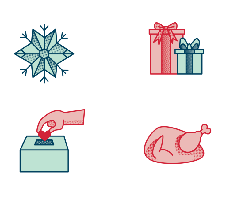 Icons transparent aesthetic. Project holiday guide