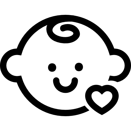 Icons transparent baby. Head with a small