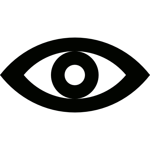 Vision vector eye icon. Red free of lineal