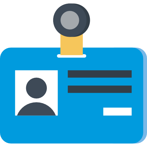 Id badge icon png. Card page svg