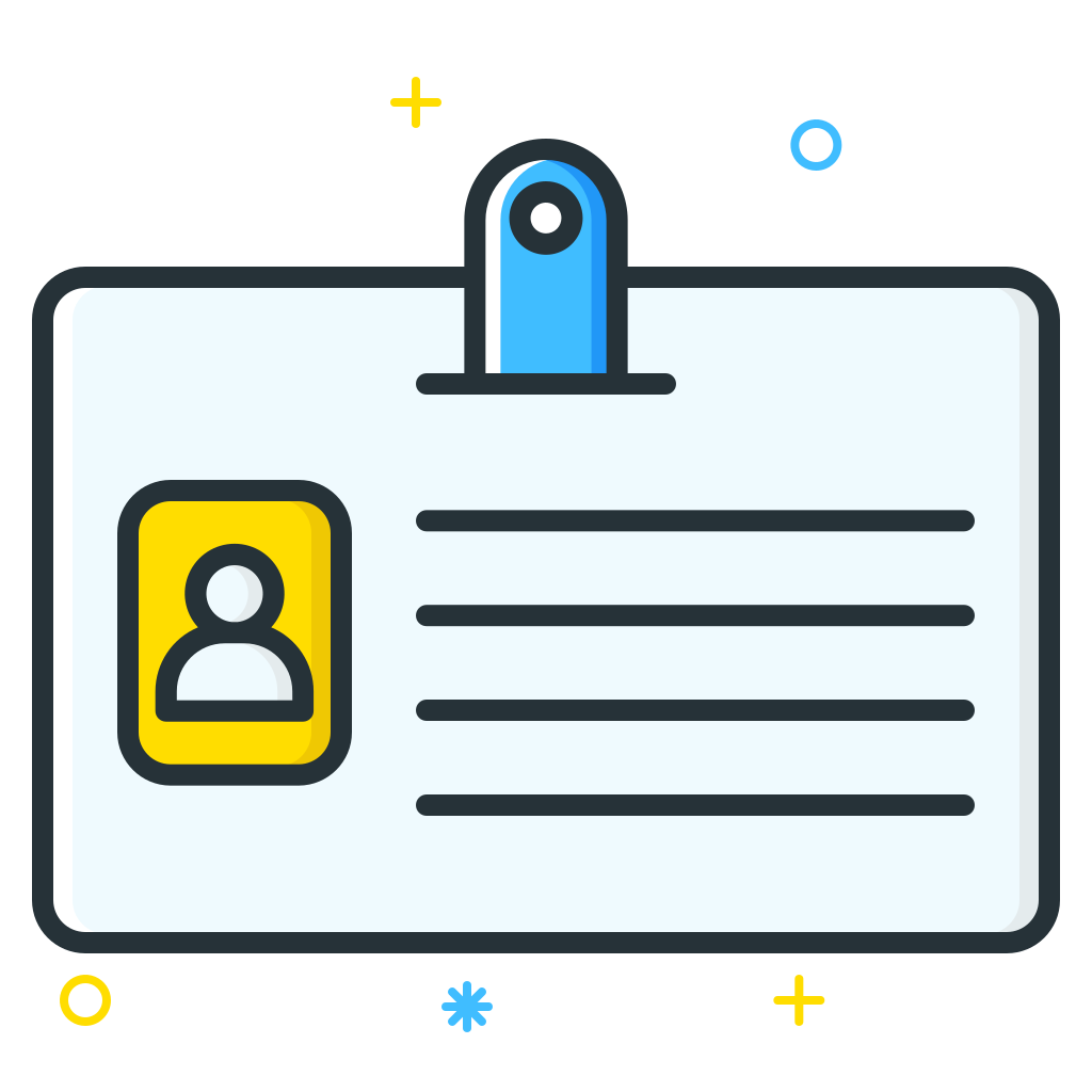 Id card png. Icon job seeker iconset