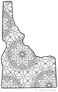 Idaho drawing coloring. Map outline printable state
