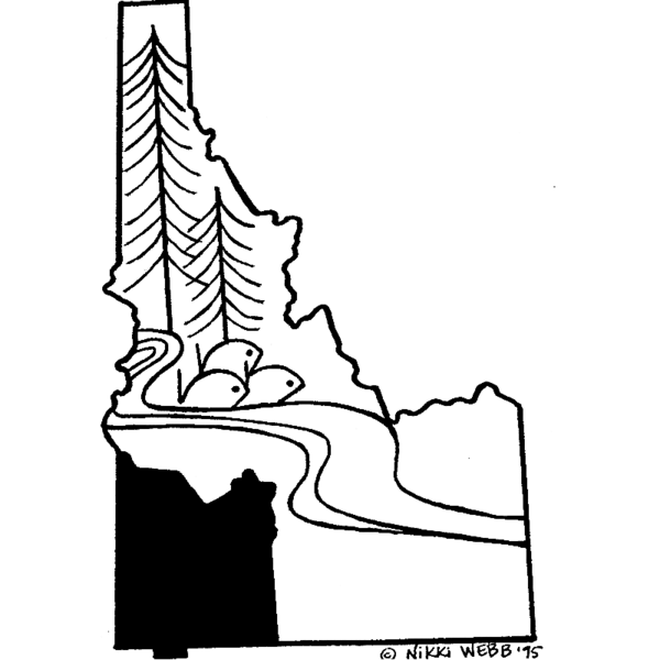 Idaho drawing coloring. Southwest resource conservation and