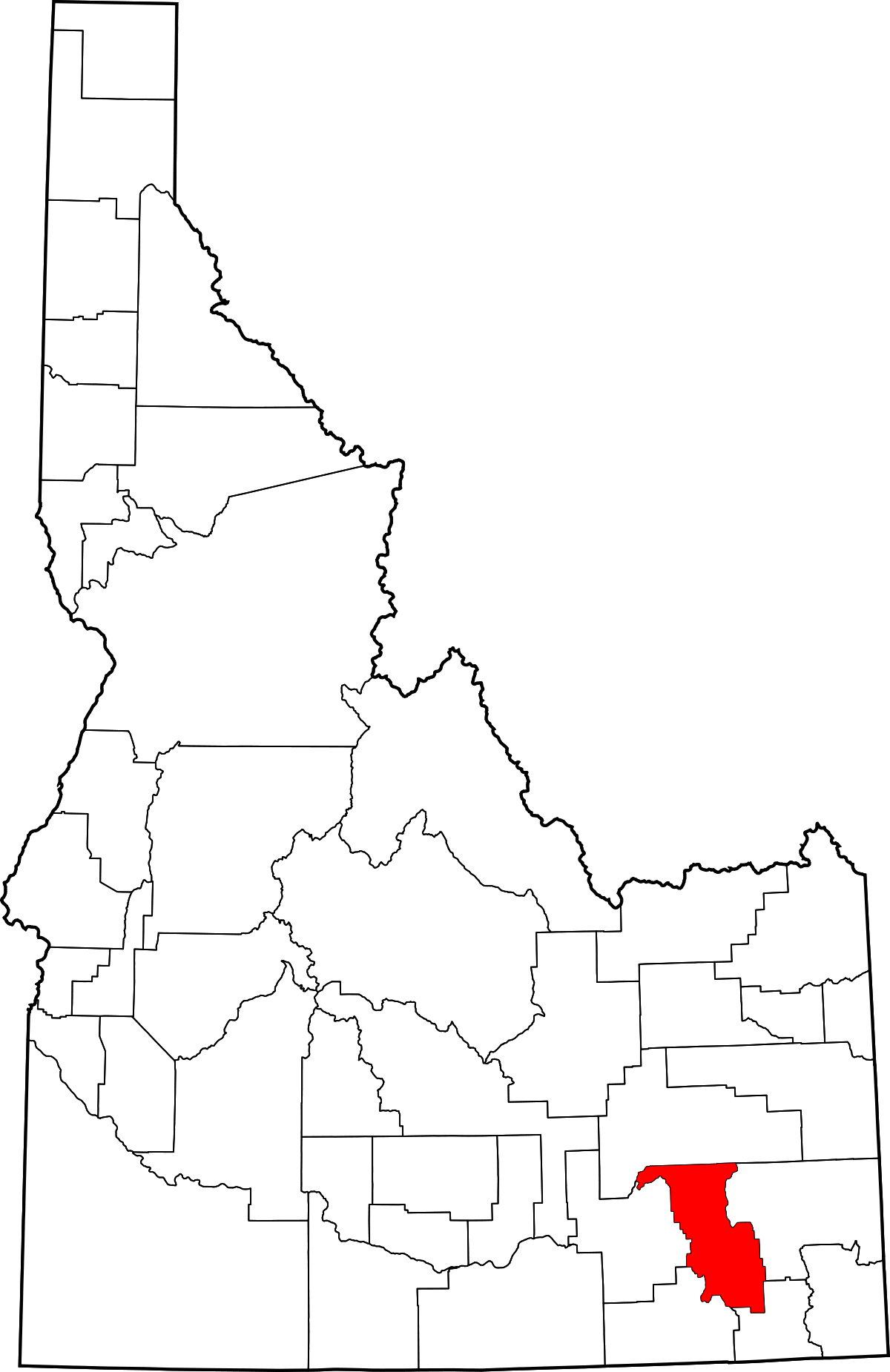 Idaho drawing outline. Bannock county wikipedia