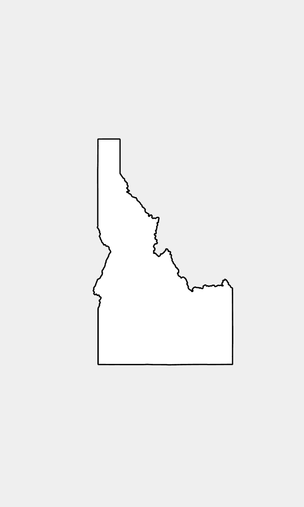 Idaho drawing silhouette. Electrical resources