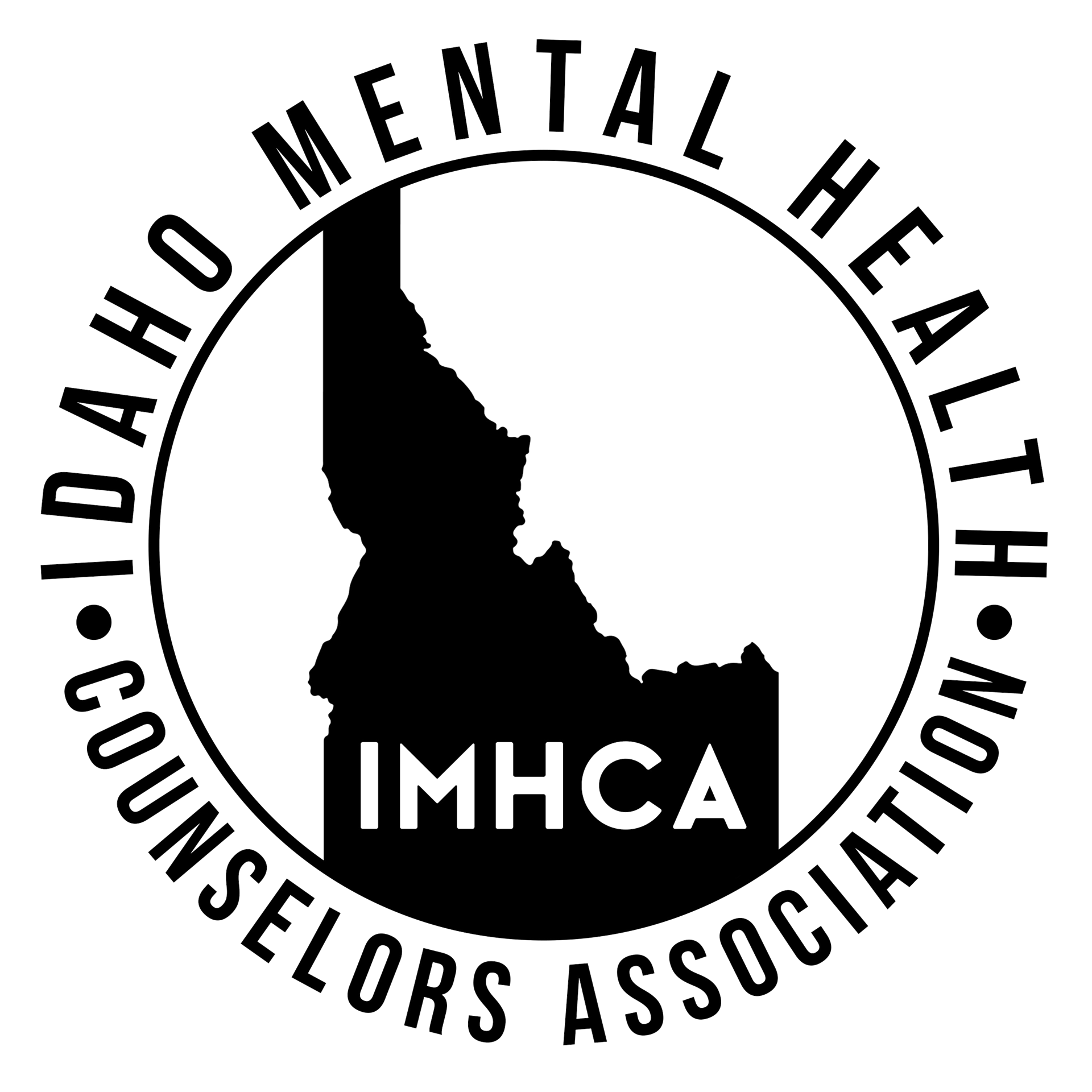 Idaho drawing silhouette. Mental health counselors association