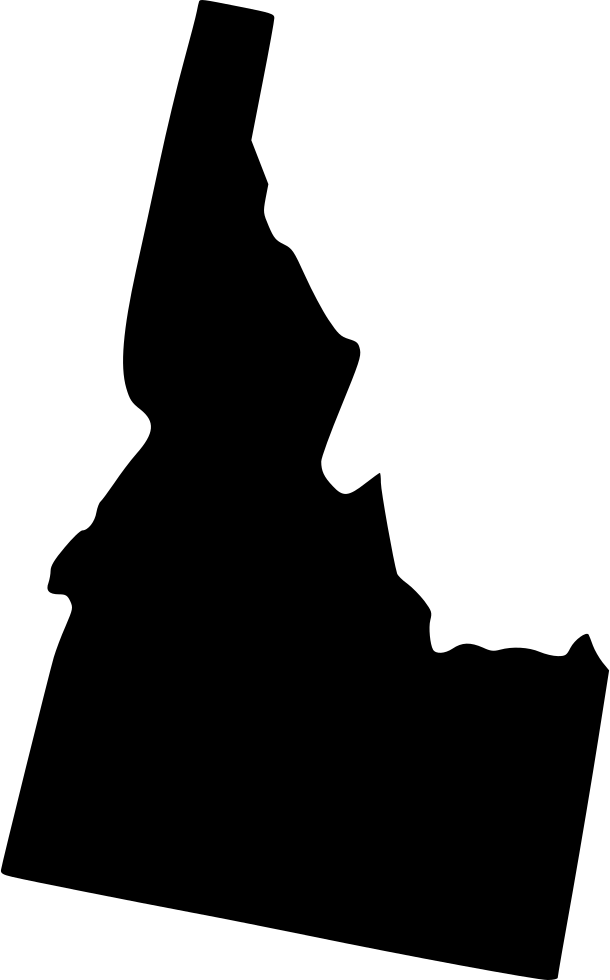 Idaho drawing silhouette. Svg png icon free