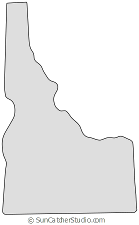 Idaho drawing silhouette. Map outline printable state