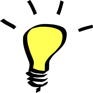 think clipart lightbulb