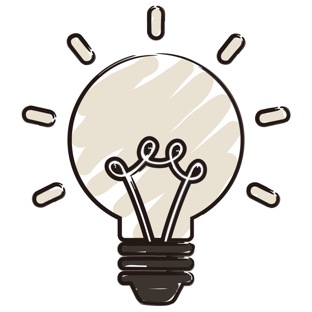 Photography illustration light bulb. Idea drawing svg library stock