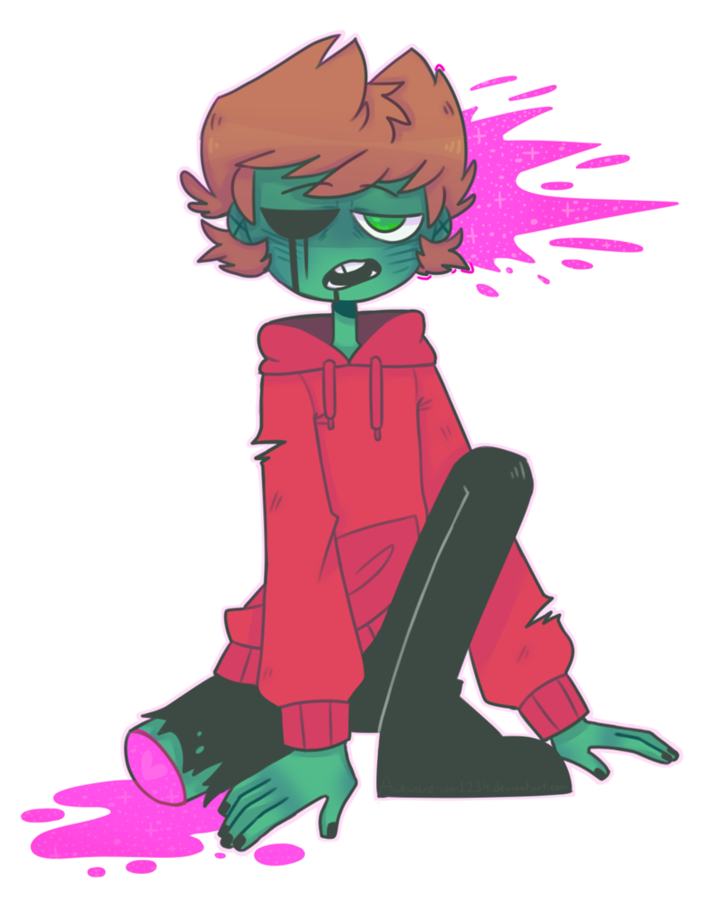 Maid drawing zombie. Tord by awkward user