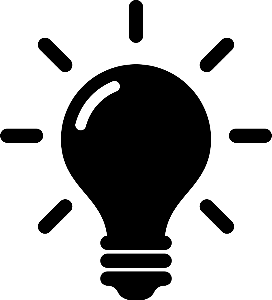 Idea lightbulb png. And creativity symbol of