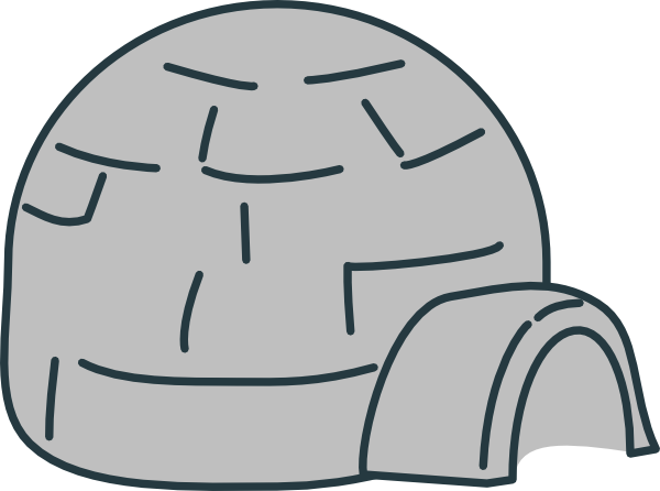 Igloo clipart cold climate. Grey clip art at
