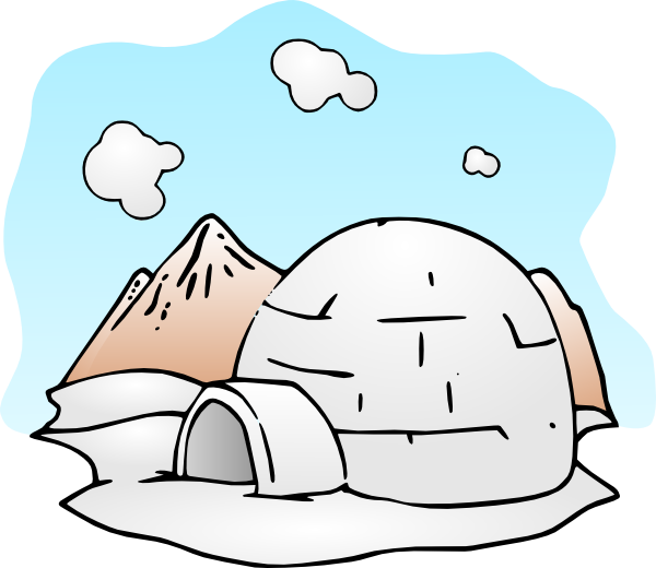 Igloo clip art at. Air clipart cold climate clipart stock