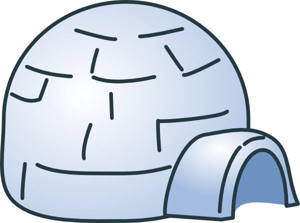 Eskimo drawing igloo house. Free cliparts download clip