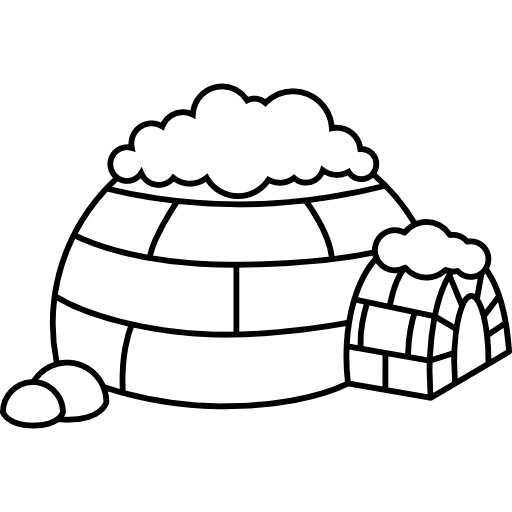 North pole icons free. Igloo clipart cold climate clip art black and white library