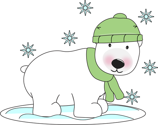 Bear clipart polar bear. Free christmas clip art