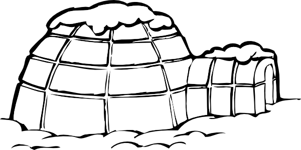 Igloo clipart cold climate. Covered in snow clip